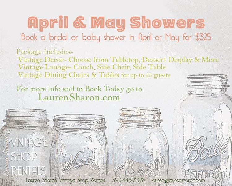 Vintage Baby Shower & Bridal Shower Special