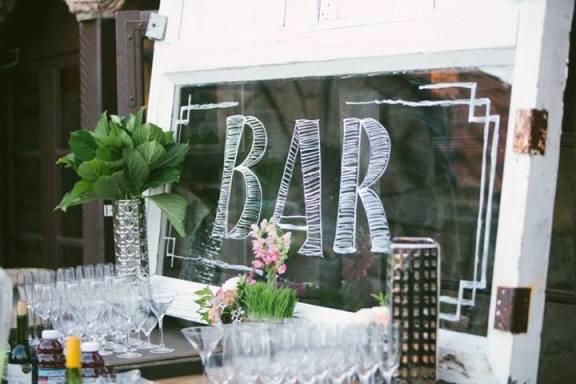 Back Bar Glass Window