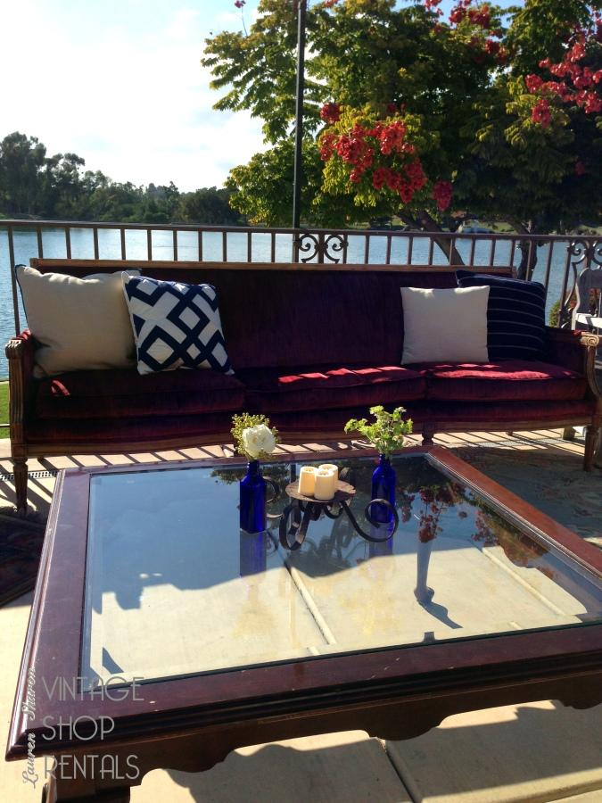 Styled Burgundy Sofa